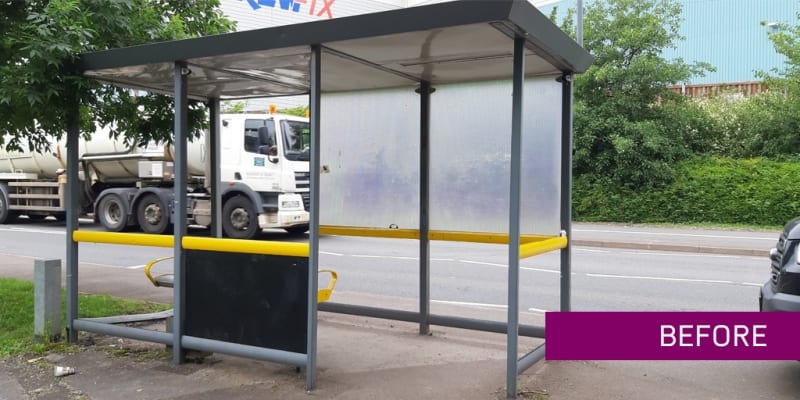 Bus Shelter Refurshment - Example - Bourne End - before