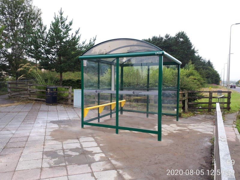 Double Width Bus Shelter