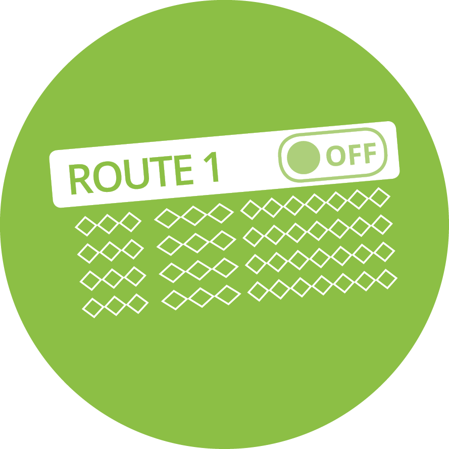 Crosstown Timetable Software - Omit Routes Icon