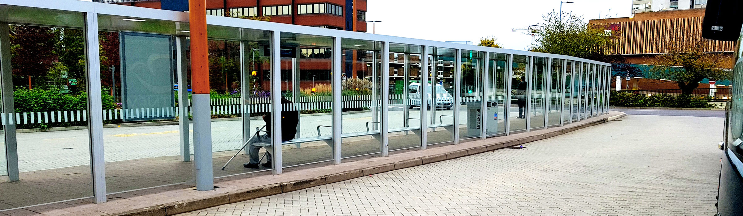 Sharp Bus Shelters - A modern design with a refined touch.