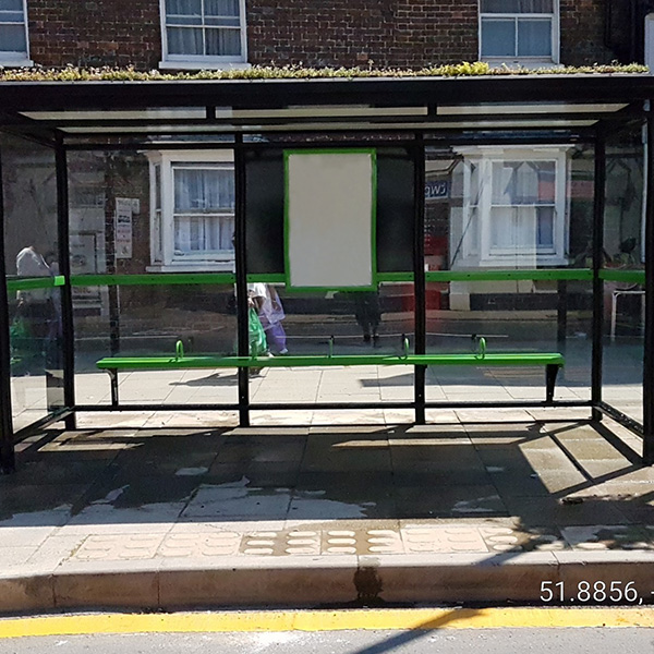Bus shelters city haven front view