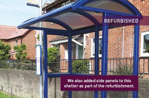 Bus Shelter Refurbishment - After 1