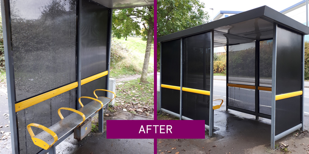 Bus Shelter Refurshment - Example - Bourne End - after