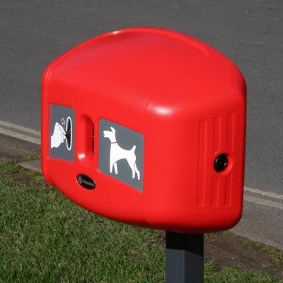 red sack dispenser