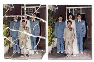 picture fix example of torn photo