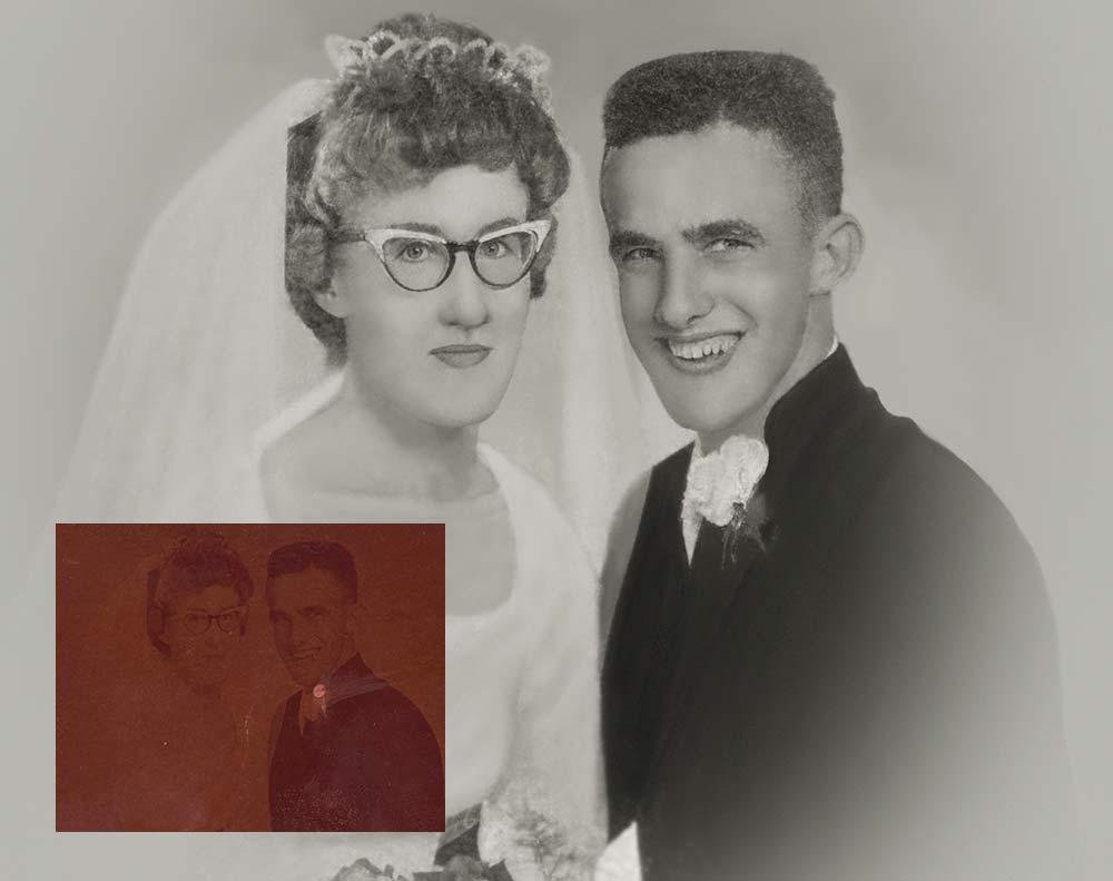 Very Dark Wedding Photo