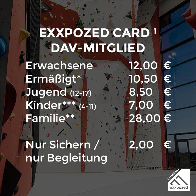eXXpozed Card Einzeleintritt