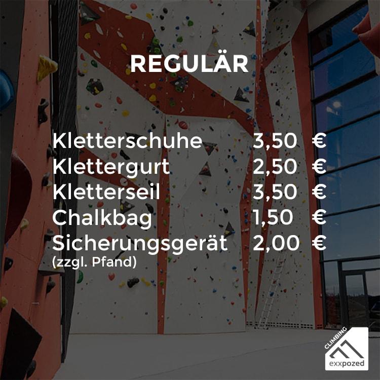 eXXpozed climbing Verleihpreise