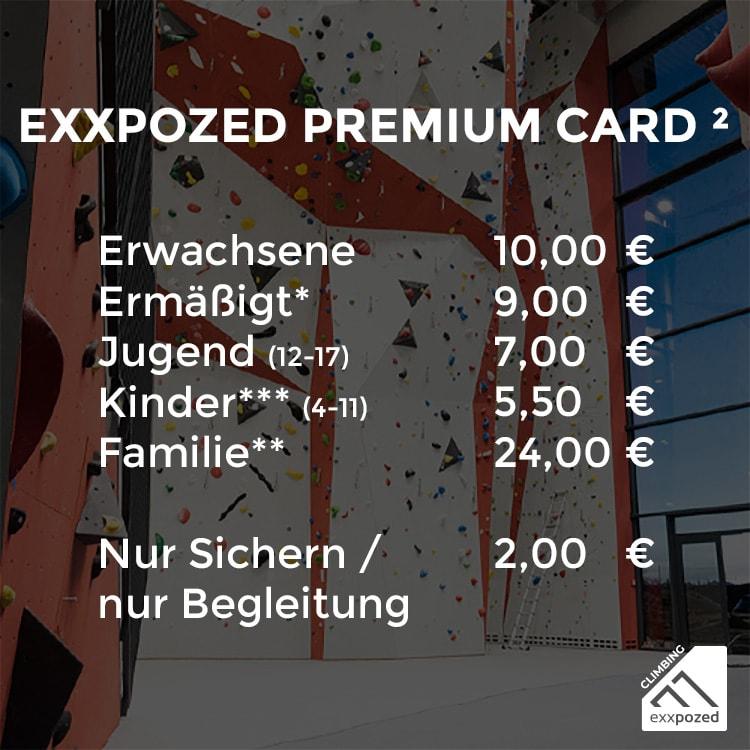 eXXpozed Premium Card Einzeleintritt