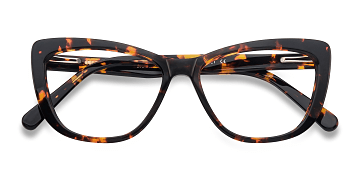 Tortoise Charlotte -  Fashion Acetate Eyeglasses