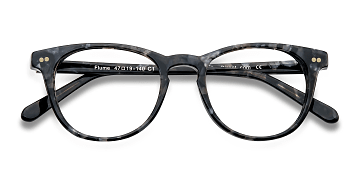 Gray/Floral Flume -  Colorful Acetate Eyeglasses