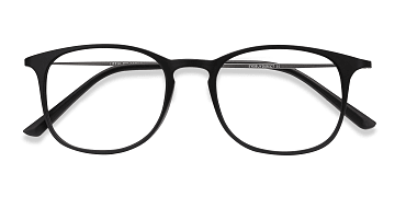 Matte Black Little Bit -  Plastic Eyeglasses