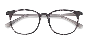 Swirled Gray Cheer -  Colorful Plastic Eyeglasses
