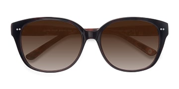 Dark Red  Lune Noire -  Vintage Acetate Sunglasses