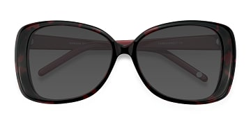 Black Red Marilyn -  Vintage Acetate Sunglasses