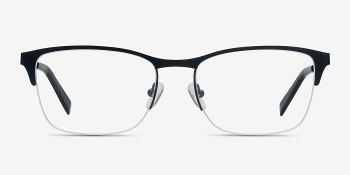 Navy Time -  Metal Eyeglasses