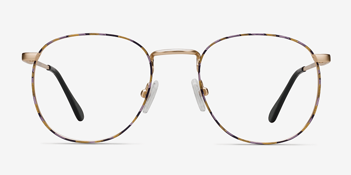 Floral Golden Blossom -  Metal Eyeglasses