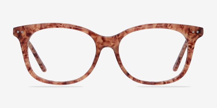 Brown/Floral Brittany -  Colorful Acetate Eyeglasses