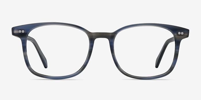 Blue Striped Lift -  Acetate Eyeglasses