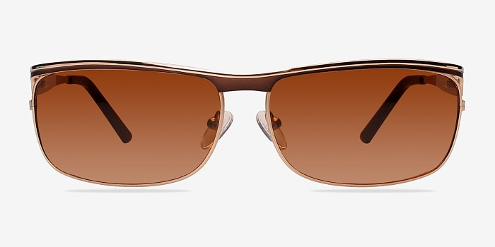 Golden/Brown Brighton -  Metal Sunglasses