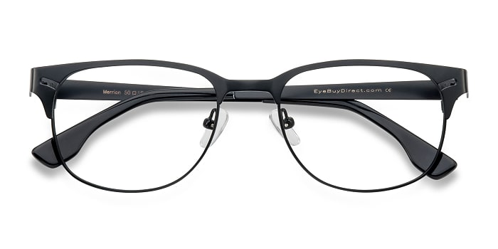 Black Merrion -  Fashion Metal Eyeglasses