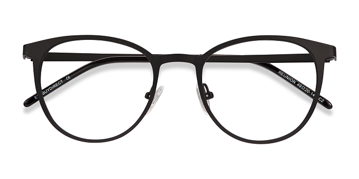 Matte Black Reunion -  Metal Eyeglasses