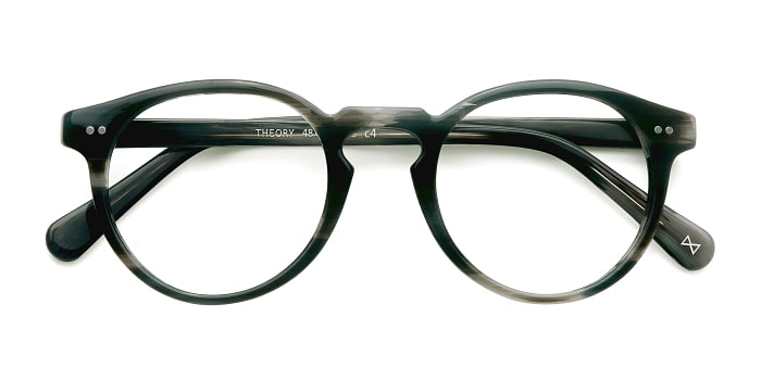 Striped Granite Theory -  Designer Acetate Eyeglasses