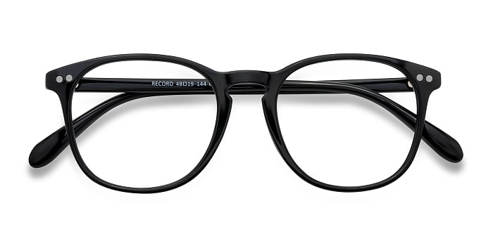 Black Record -  Plastic Eyeglasses
