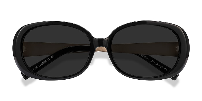 Black Lauren -  Vintage Plastic Sunglasses