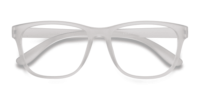 Frosted Clear Milo -  Plastic Eyeglasses
