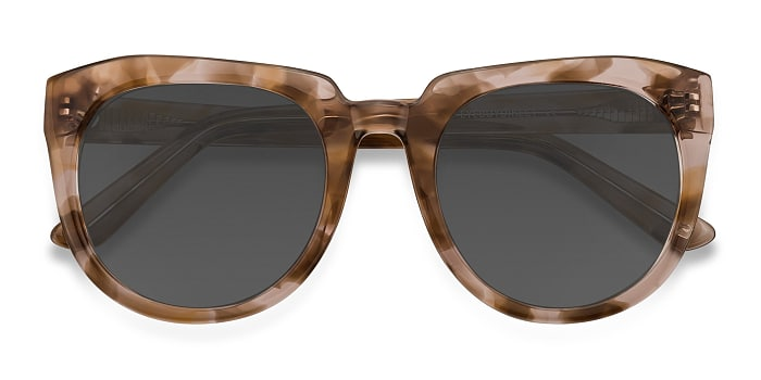 Brown Floral Laohu -  Vintage Acetate Sunglasses