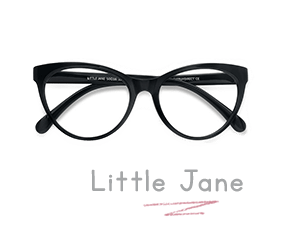 Black Little Jane -  Plastic Eyeglasses