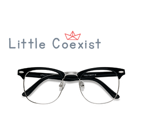 Black Little Coexist -  Vintage Metal Eyeglasses