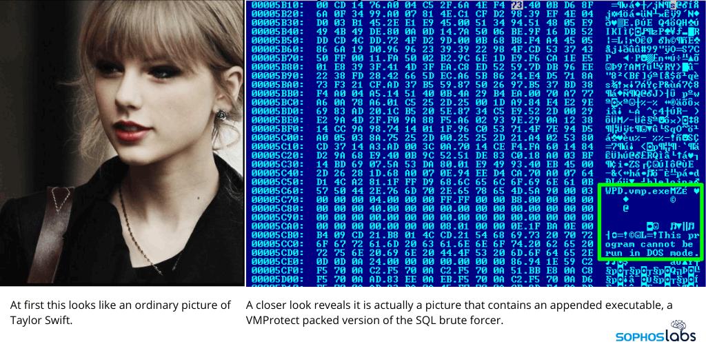 Taylor Swift malware image