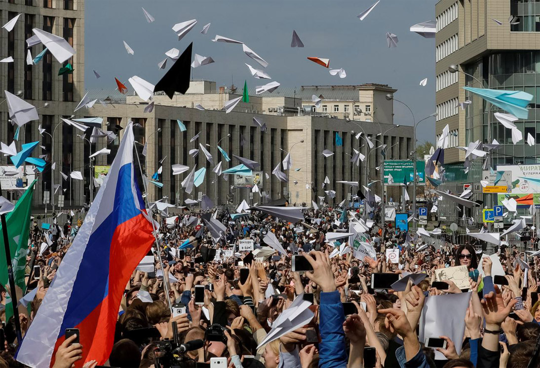 Telegram users protested in Moscow