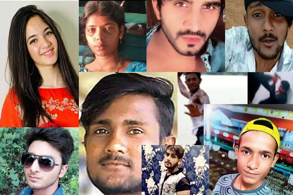 Just some of the young faces of TikTok that faced death