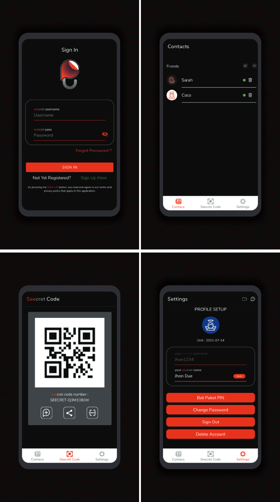 Seecret app
