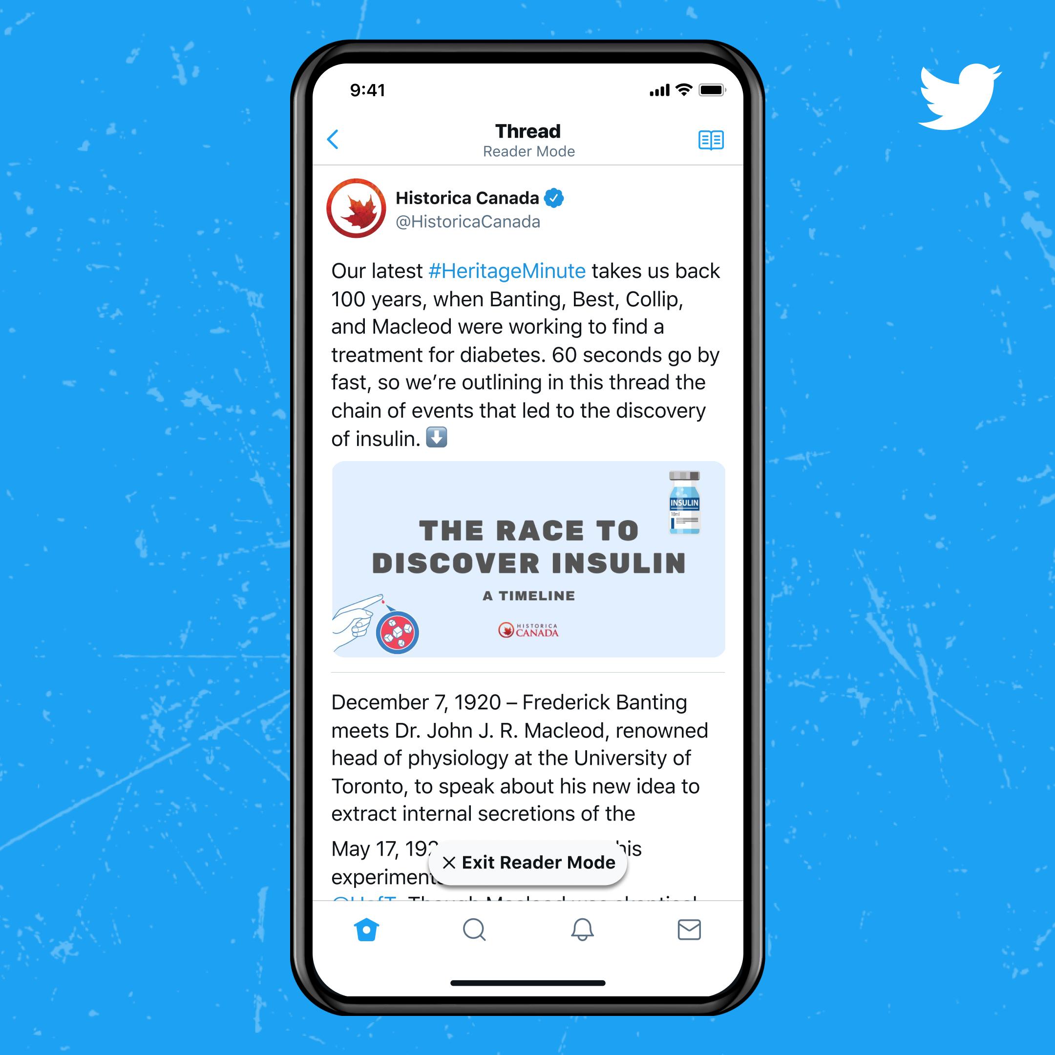 Twitter Blue, Reader Mode.