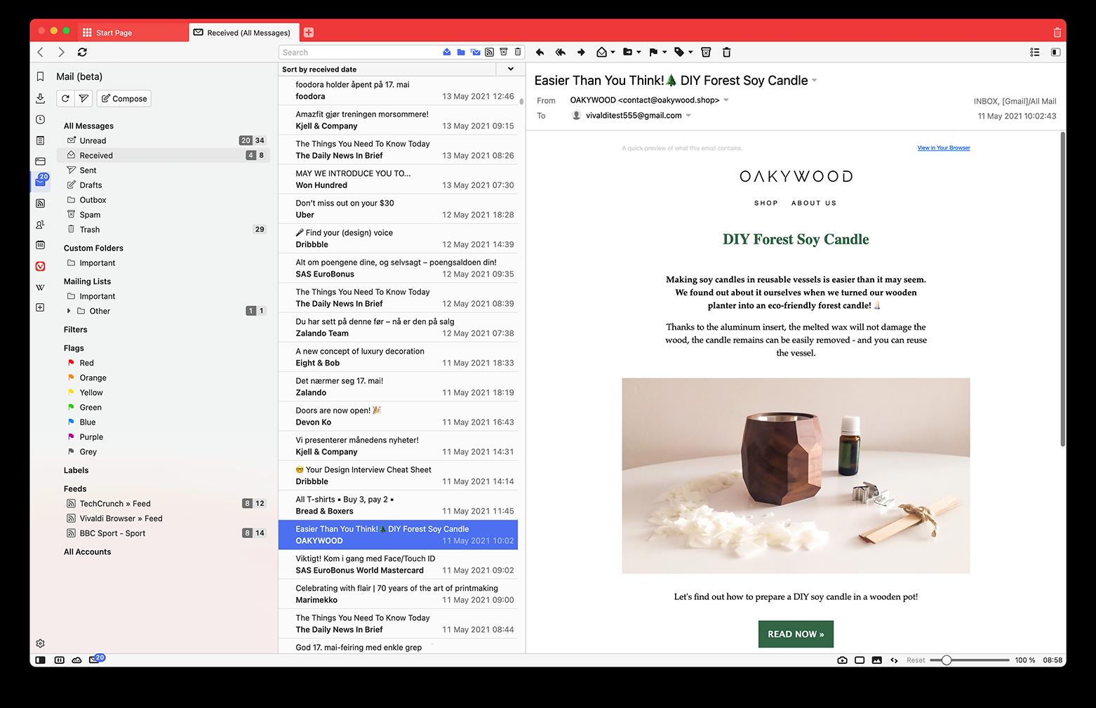 Vivaldi Mail Beta