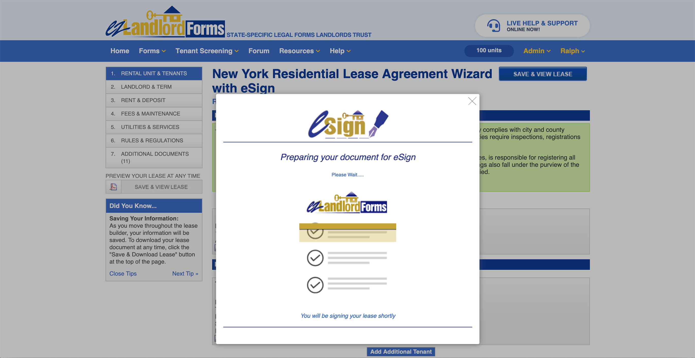 eSigning Lease Agreements
