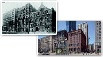 This book tells the story of the city's heritage by comparing Chicago's old and modern photographs.