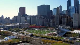 The park is located in the Loop, Chicago's central business district or downtown.