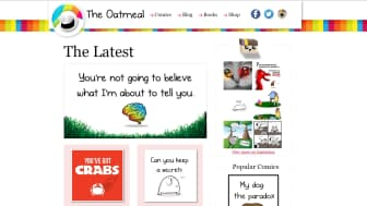 "Up next, at #4, is ""The Oatmeal."""
