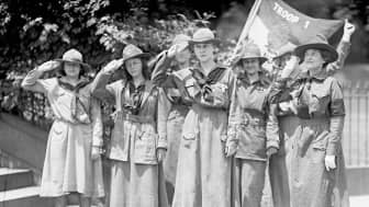 Although the Girl Guides were growing, there were many competing organizations.