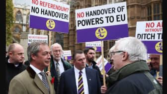 The Leave EU campaign was promoted by UKIP, the face of which was Nigel Farage.