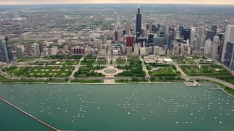 Millennium Park is situated near the city's Lake Michigan shoreline.