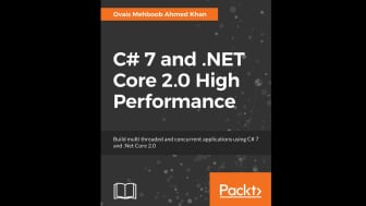 "Coming in at #2 is ""C# 7 and .NET Core 2.0 High Performance"" by Ovais Mehboob Ahmed Khan, which is for developers who have at least basic C# knowledge."