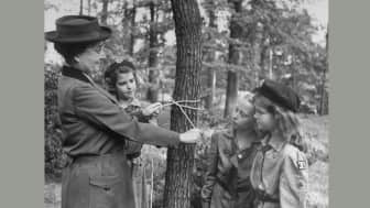 On March 12, 1912, Girl Scouting in the United States of America officially began when Gordon Low formed the first Girl Guides patrol, registering 18 members in Savannah, Georgia.
