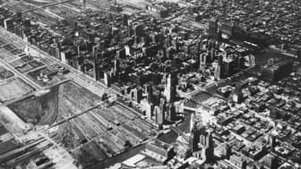 The large urban area used to be occupied by Illinois Central Railroad.