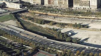 The original plan for Millennium Park was to build a landscape-covered bridge over the parking facility.